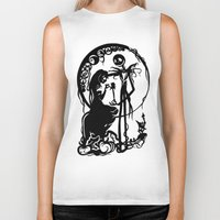 nightmare before christmas Biker Tanks featuring A Nightmare Before Christmas by iankingart
