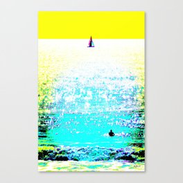 Sailboat and Swimmer (2c) Canvas Print