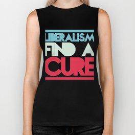 Liberalism Find A Cure T-Shirt Biker Tank