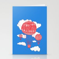 hot air balloon Stationery Cards featuring Hot Air Balloon by lush tart