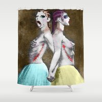 sisters Shower Curtains featuring sisters by madild