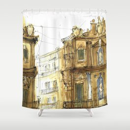 Old Palermo Shower Curtain