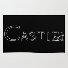 Castiel with Feather Black Rug