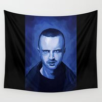 jesse pinkman Wall Tapestries featuring Jesse Pinkman by Richtoon