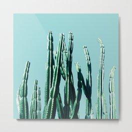 Green Cactus 7 Metal Print