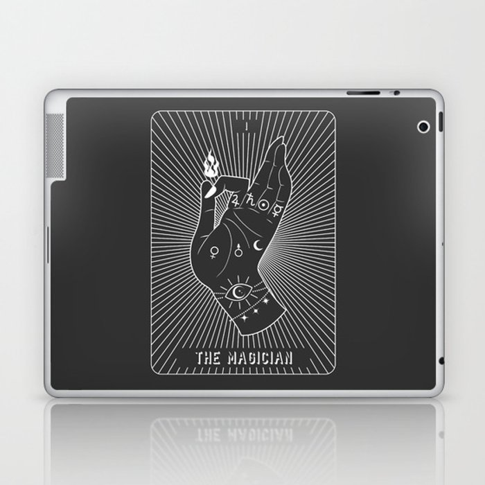 Minimal Tarot Deck The Magician Laptop & iPad Skin