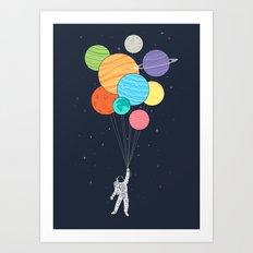 Planet Balloons Art Print
