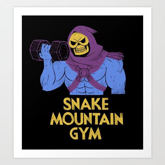 snake mountain gym Art Print