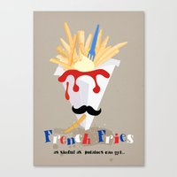 french fries Canvas Prints featuring French Fries by Elisandra