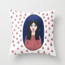 Chuva de Triângulos Throw Pillow