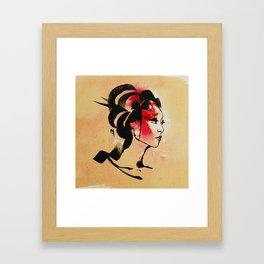 Spring Geisha Framed Art Print