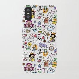 Alice in Doodleland iPhone Case