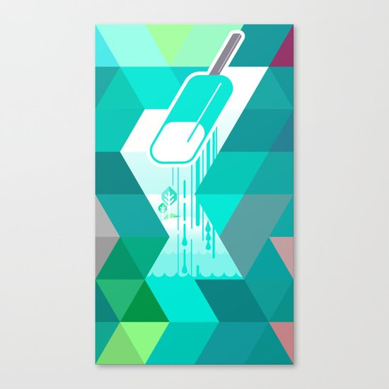 Blue Raspberry Popsicle Canvas Print