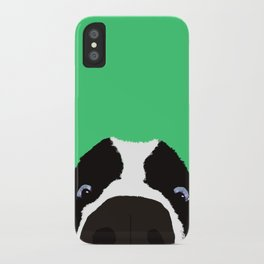 Begging Border Collie iPhone Case