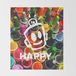 Crayon HAPPY Throw Blanket