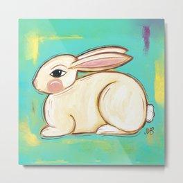 Chubby Bunny Metal Print