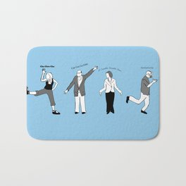 Chicken Dance The Night Alway  Bath Mat