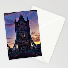 London Tower Bridge at Sunset Stationery Cards