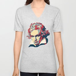 Beethoven Pop Art Unisex V-Neck