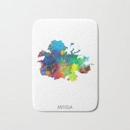 Antigua Watercolor Map Bath Mat