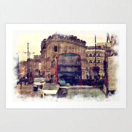 Southwark Scene - London England Art Print