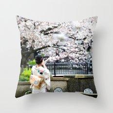 Kiyamachi Kimono, Kyoto Throw Pillow