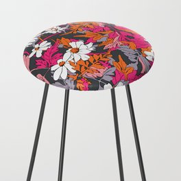 Bright Floral Fun Counter Stool