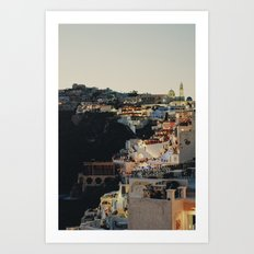 Fira at Dusk Art Print