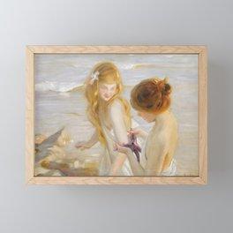 Paul Émile Chabas - Deux jeunes Filles a l'Étoile de Mer Framed Mini Art Print
