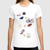 sport T-shirts featuring Sport - Triathlon by BlandinePannequin