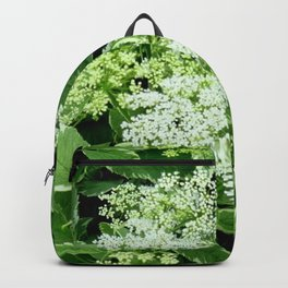 AWESOME DELICATE GREEN LACE FLOWERS Backpack