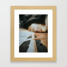 Extreme weather in Dubai by GEN Z Framed Art Print