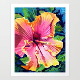 Tropical Bliss Hibiscus Art Print