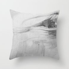 Wind in her hair Throw Pillow