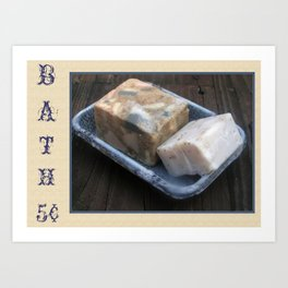 Primitive Bath Soaps Art Print