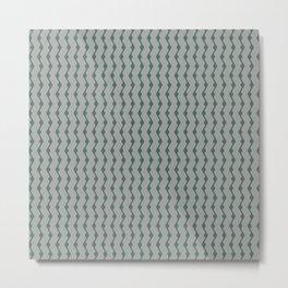 Teal lines Metal Print