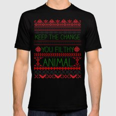 Keep The Change, You Filthy Animal! Mens Fitted Tee Black LARGE