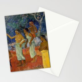 Paul Gauguin - Scene from Tahitian Life Stationery Cards