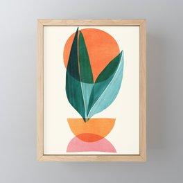 Nature Stack II / Abstract Shapes Illustration Framed Mini Art Print