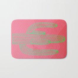 Deserted cactus - chevron pink Bath Mat