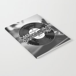 Spinning Forever (B&W) Notebook