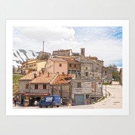Italian mountain village Art Print