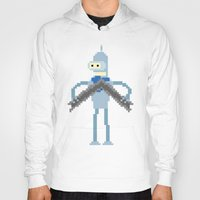 bender Hoodies featuring Pixel Bender by Paul Scott (Dracula is Still a Threat)