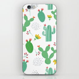 Colorful cacti watercolors illustration iPhone Skin