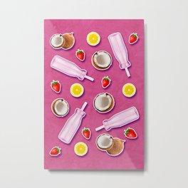 Summer fruit pink Metal Print