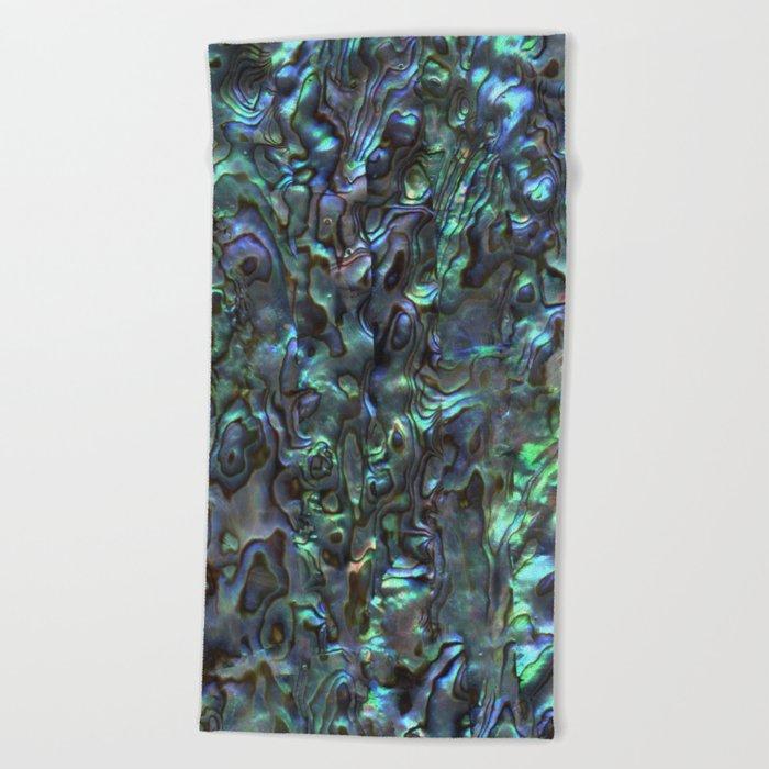 Abalone Shell | Paua Shell | Sea Shells | Patterns in Nature | Natural | Beach Towel