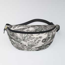 Poison Plants and Raptor Birds Fanny Pack
