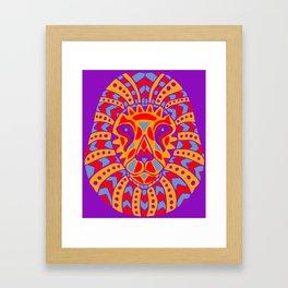 Aztec Lion Design #8 Framed Art Print