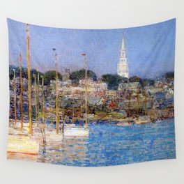 Newport Harbor, Newport, Rhode Island - Cat Boats by Frederick Childe Hassam Wall Tapestry