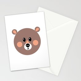 Brown Bear Stationery Cards
